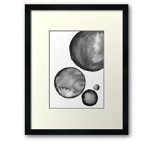 Ink Circles Abstract Art Framed Print