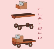Flatbed Truck kit of parts T-shirt Baby Tee