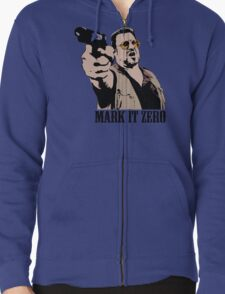 The Big Lebowski Mark It Zero Color Tshirt Zipped Hoodie