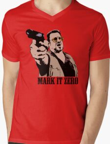 The Big Lebowski Mark It Zero Color Tshirt Mens V-Neck T-Shirt