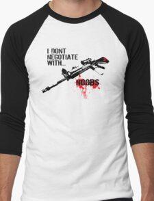 I Don't Negotiate with Noobs Men's Baseball ¾ T-Shirt