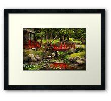 Japanese Garden - Meditation  Framed Print