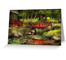 Japanese Garden - Meditation  Greeting Card