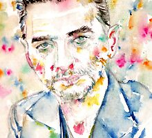 DAVE GAHAN - watercolor portrait by lautir