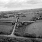 RAF Bostons on low-level strike, black and white version by Gary Eason + Flight Artworks