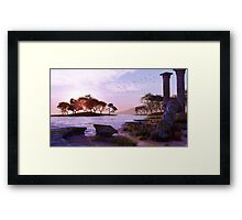 Sunset Temple Framed Print