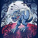 Werewolf Scratching Spooky Fleas by Zoo-co