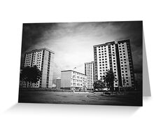 Highrise Flats Greeting Card