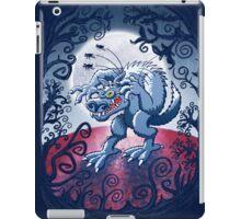 Werewolf Scratching Spooky Fleas iPad Case/Skin