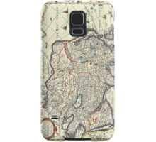 Vintage Map of Asia Samsung Galaxy Case/Skin