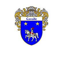 Cavalie Coat of Arms/Family Crest Photographic Print