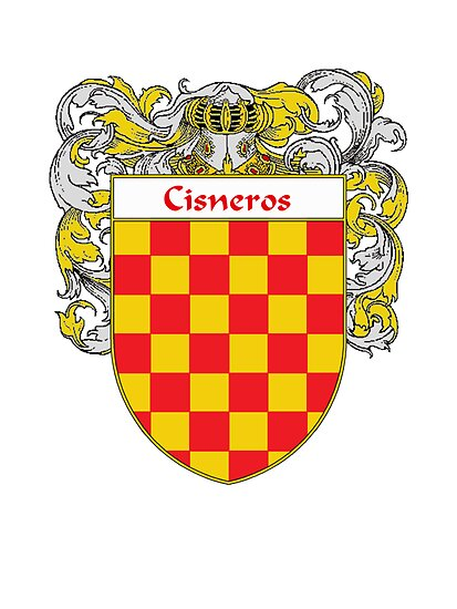 Cisneros Coat of Arms/Family Crest by William Martin