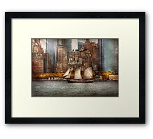 Boat - Governors Island, NY - Lower Manhattan Framed Print