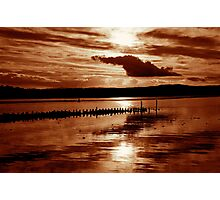 Sunset, River Clyde Photographic Print