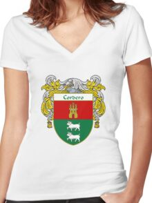 Cordero Coat of Arms/Family Crest Women's Fitted V-Neck T-Shirt