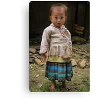 Blue Mong child... Canvas Print