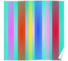 Vertical Stripes Art Square Poster