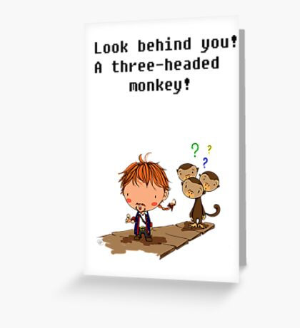 Three headed monkey!! Greeting Card