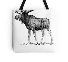 Moose Sketch Tote Bag