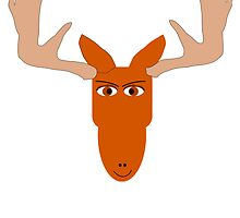 Cartoon Moose Head by kwg2200