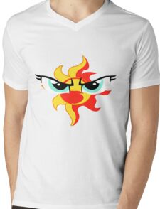 Sunset Shimmer Emblem Mens V-Neck T-Shirt
