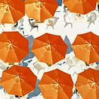 Orange Umbrellas by aussiedi