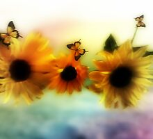 Sunflowers in harmony  by Annabellerockz