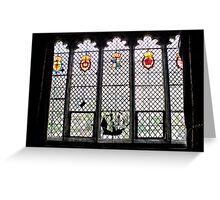 Medieval Window, Ightham Mote Greeting Card