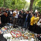 John Lennon Birthday Celebration, Strawberry Fields, Central Park, 10/9/13 by lenspiro