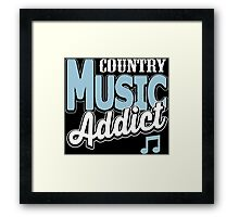 Country music addict Framed Print