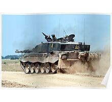 Challenger 2 Main Battle Tank (MBT) British Army Poster