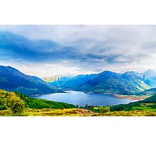 View from Bealach Ratagan to the Five Sisters of Kintail Photographic Print