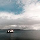 The CalMac Ferry sets out to Mallaig from Armadale on Skye by Richard Flint