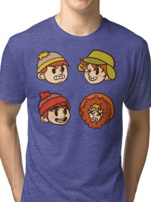 South Park Boys Chibi Heads Tri-blend T-Shirt