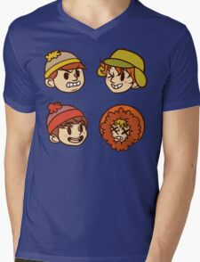 South Park Boys Chibi Heads Mens V-Neck T-Shirt