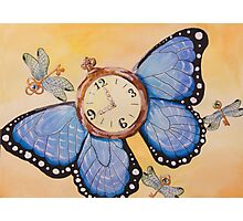 Clockwork Butterfly (Time Flies) Photographic Print