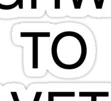 Highway to Helvetica Sticker