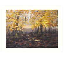 """Autumn Forest"" Painting Art Print"