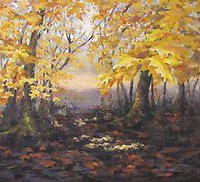 """Autumn Forest"" Painting by Karen Ilari"