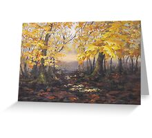 """""""Autumn Forest"""" Painting Greeting Card"""