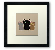 Three Curious Kittens Framed Print