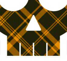 X Marks The Scot Black and Gold Sticker