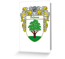 DeJesus Coat of Arms/Family Crest Greeting Card