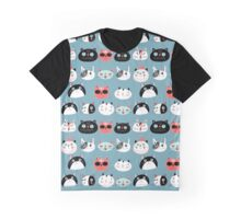 pattern amusing portraits of cats Graphic T-Shirt