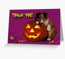 Thank You Halloween Shetland Sheepdog Greeting Card
