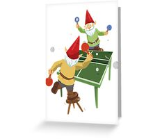 Gnome Pong Greeting Card