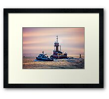 Redhook Harbor  Framed Print