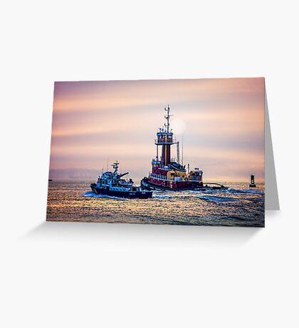 Redhook Harbor  Greeting Card