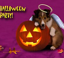 Halloween Party Angel Sheltie Puppy by jkartlife