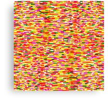 Impressionism style colorful abstract pattern  Canvas Print